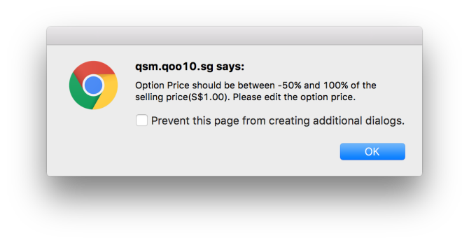 Option proce must be between -50% and 100%! Why?!